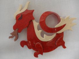 Lea Stein - Fire Breathing Dragon Brooch signed Lea Stein of Paris (SOLD)